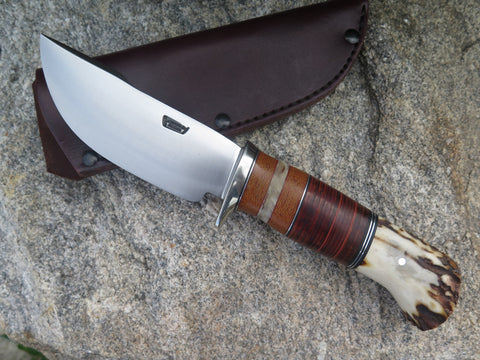 Sambar Stag, Musk Ox and Horsehide Woodcraft