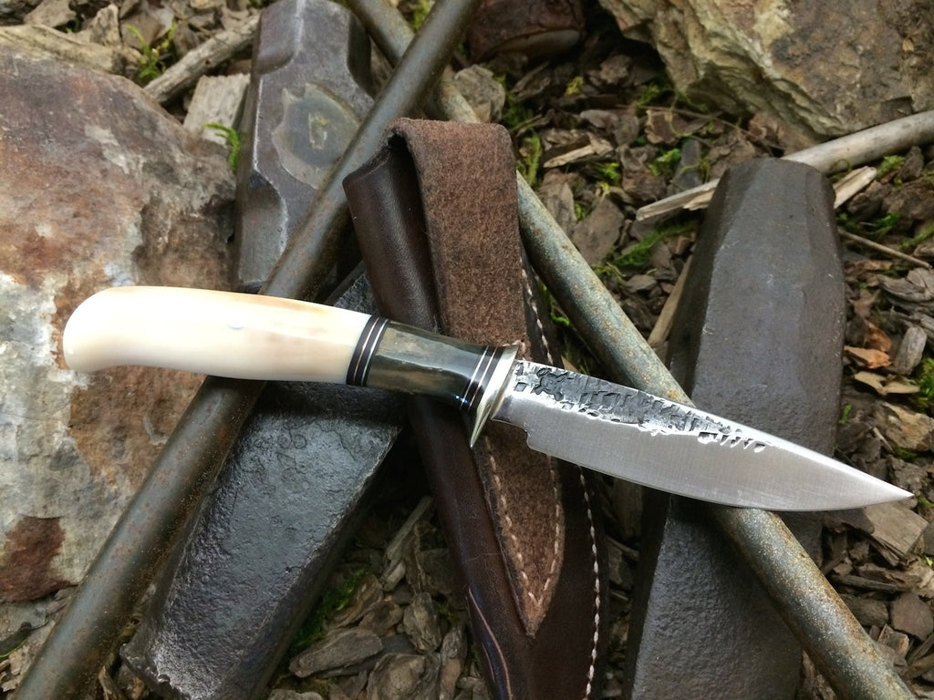 Black & White Ivory Drop Point