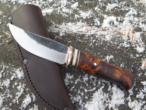 Premium Desert Ironwood Burl and Fossil Walrus Hunter