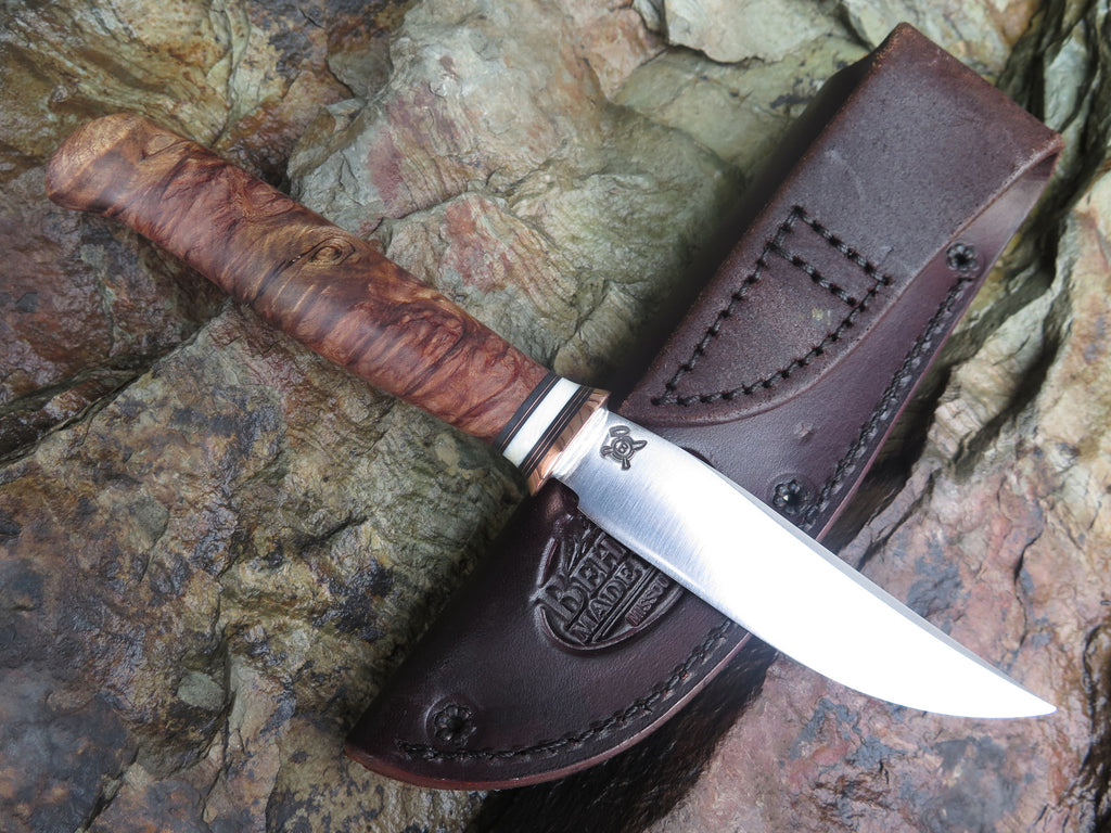 Redwood Burl and Mammoth Stainless Trout & Bird