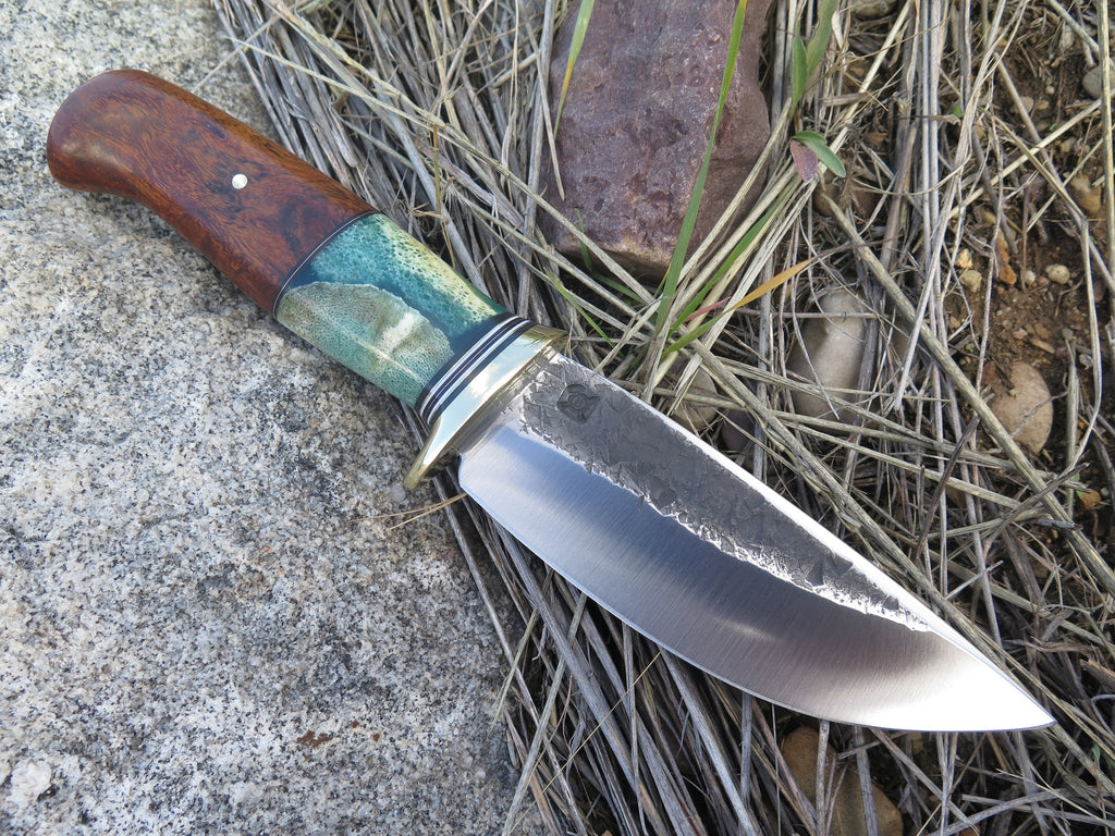 Premium Desert Ironwood and Giraffe Bone XL Drop Point