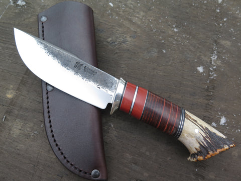 Sambar Crown Stag and Horsehide Woodcraft