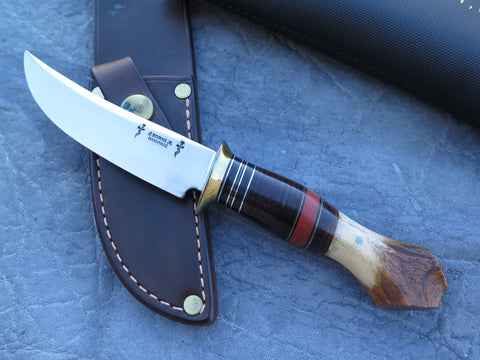 J. Behring Jr. Handmade Crotch Stag Trout & Bird