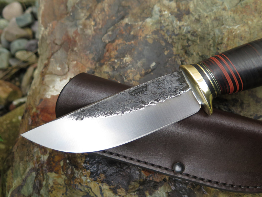 Horsehide and Brass Mission Knife