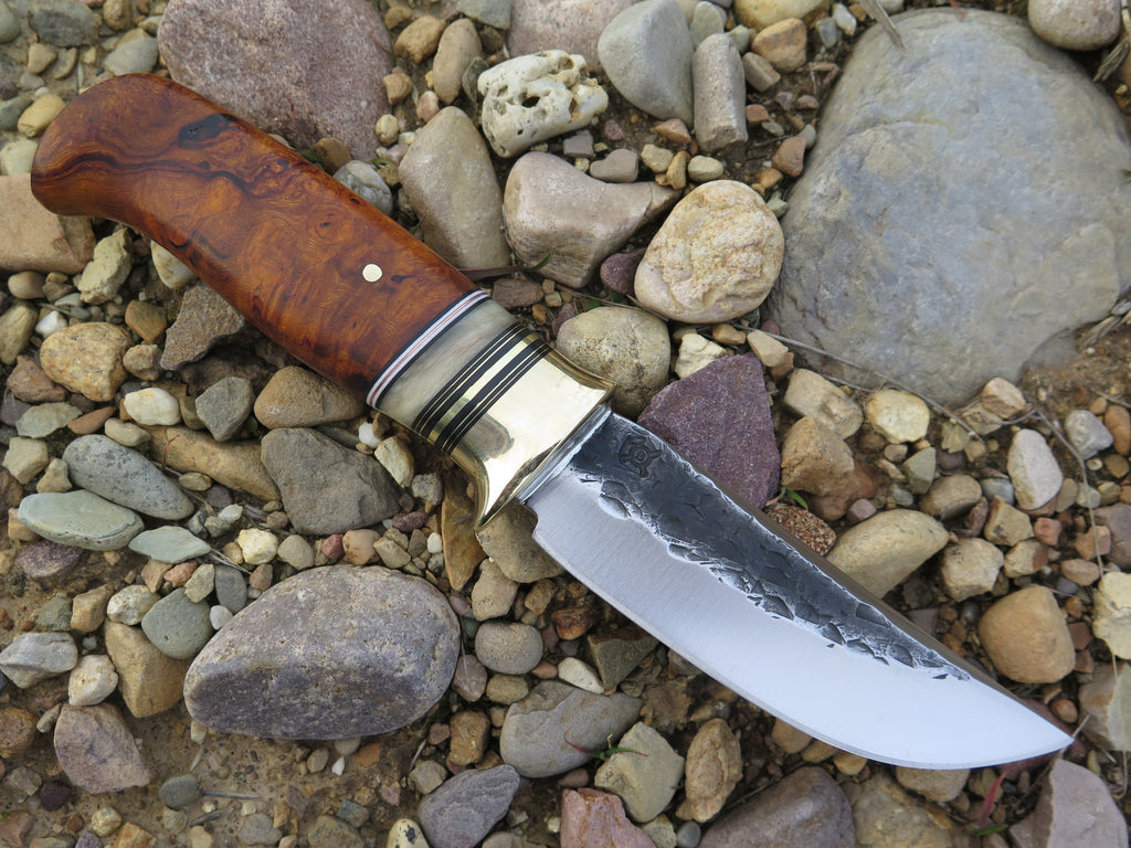 Premium Desert Ironwood Burl & Dall Sheep Horn Hunter