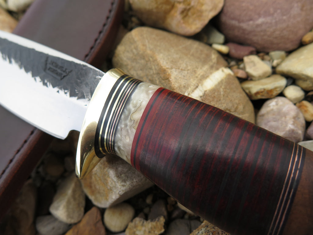 Walnut, Horsehide and Musk Ox Drop Point