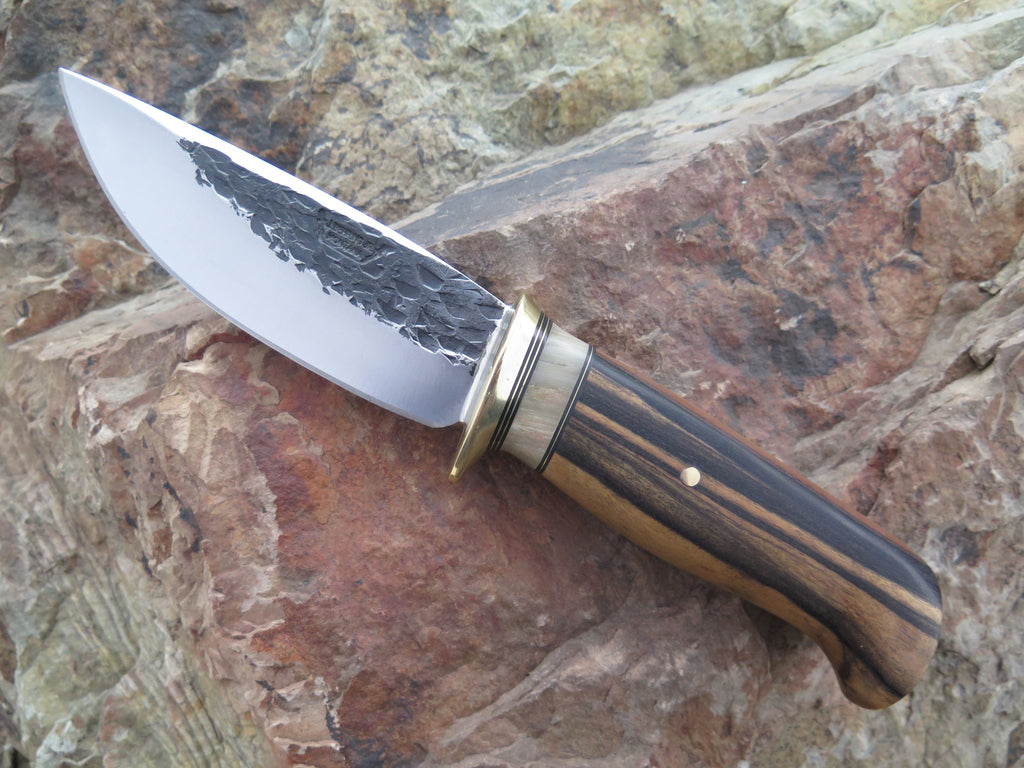 Black & White Ebony and Dall Sheep Drop Point