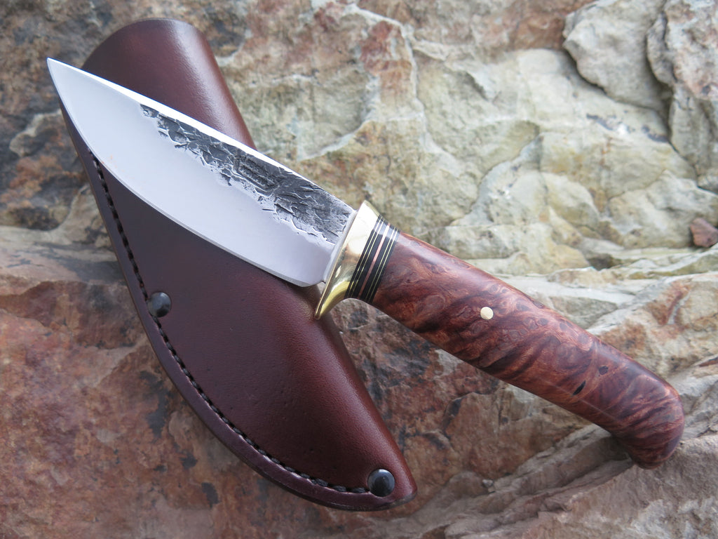 Premium Redwood Burl Drop Point