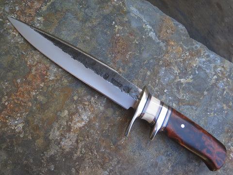 Premium Desert Ironwood Burl & Fossil Walrus Fighter