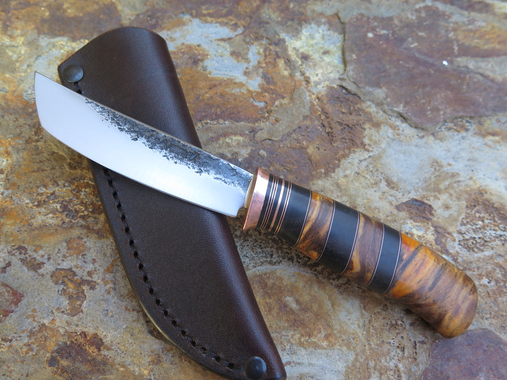 Stabilized Beech and Ebony Tanto