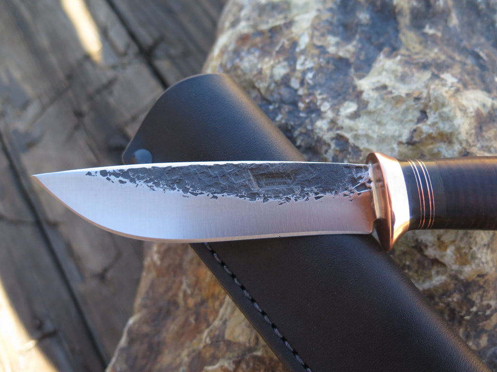 Sambar Stag and Horsehide Recurve Drop Point