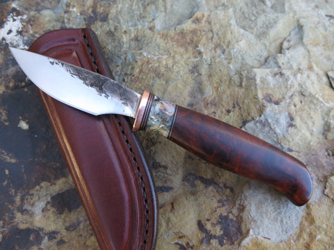 Desert Ironwood Burl and Seashell Pocket AK