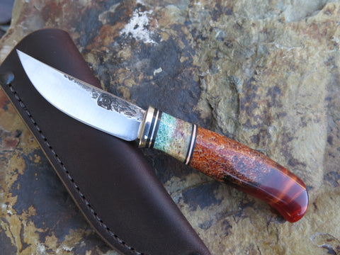 Stabilized Giraffe Bone Mini Trout & Bird