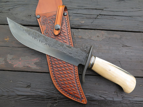 Premium Fossil Walrus Ivory Recurve Blued Camper