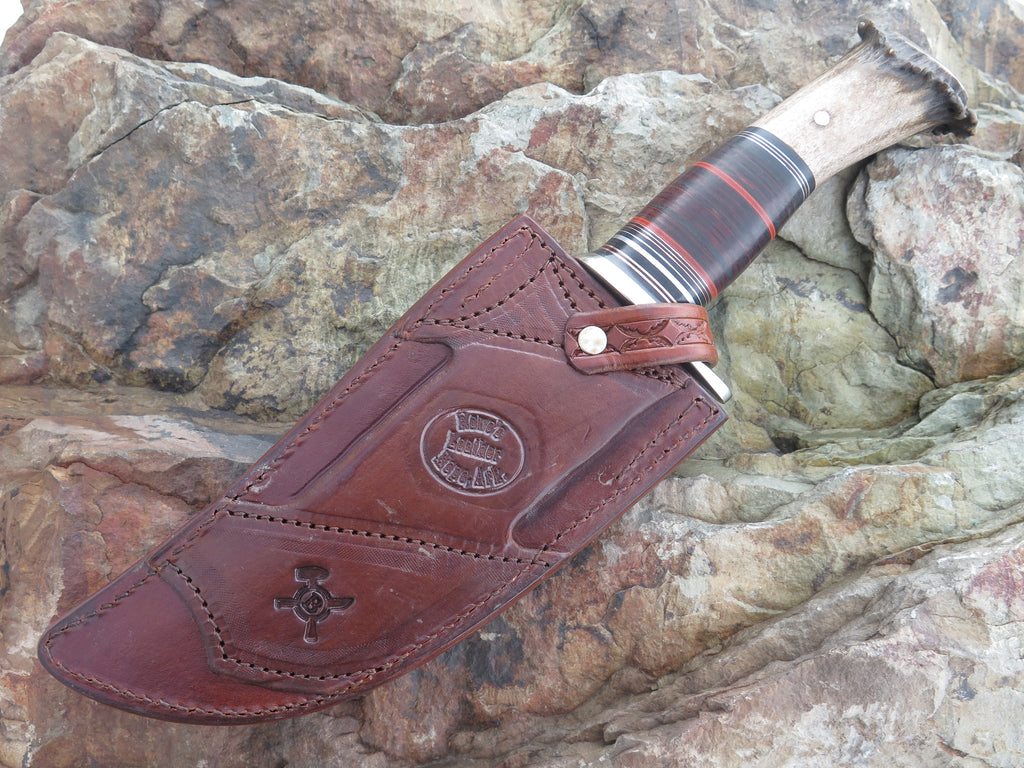 Scagel Style Camp Knife w/ Rattlesnake Inlay