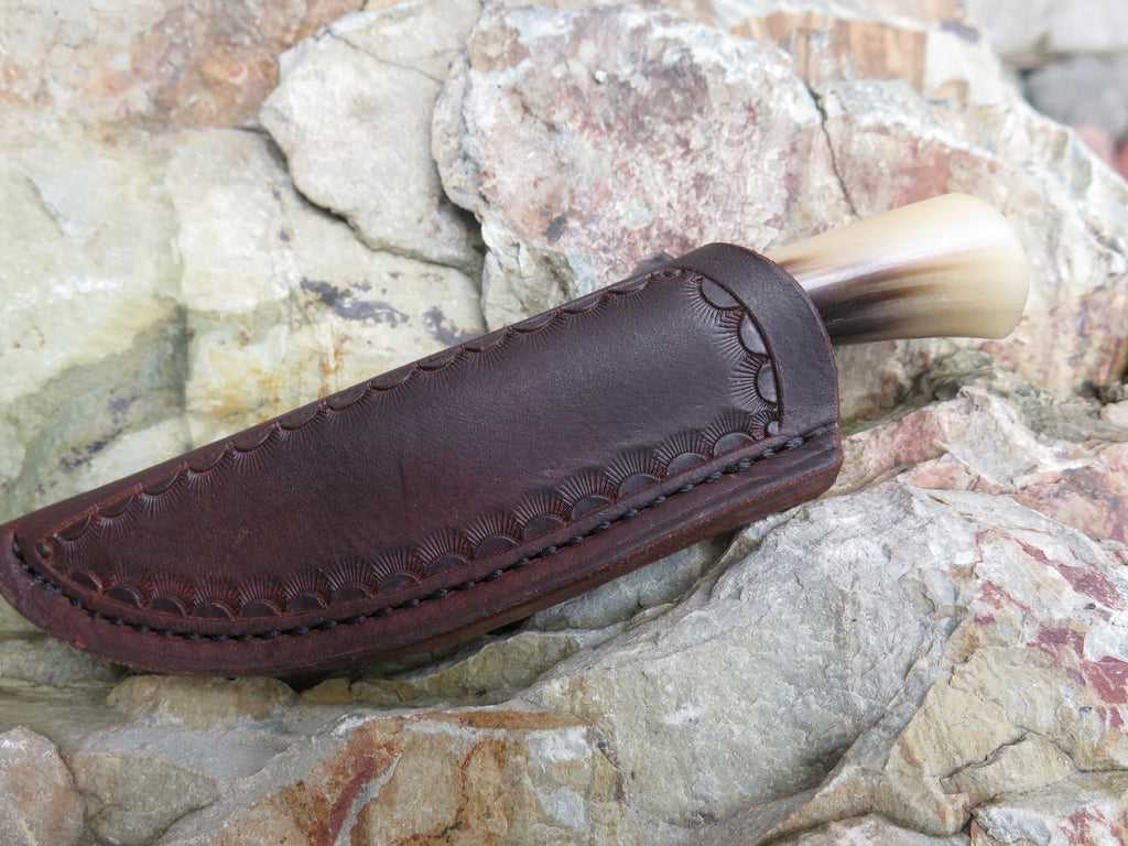 Musk Ox Horn Pocket Knife