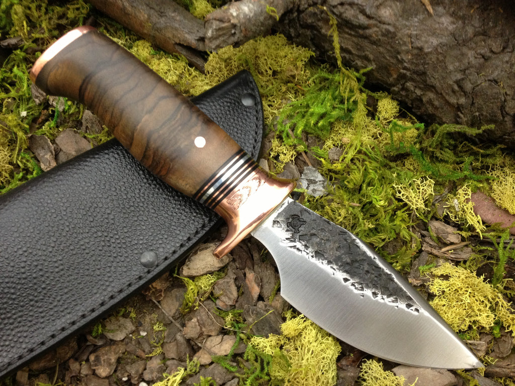 Alaskan w/ Engraved Copper Bolsters and Exhibition Walnut