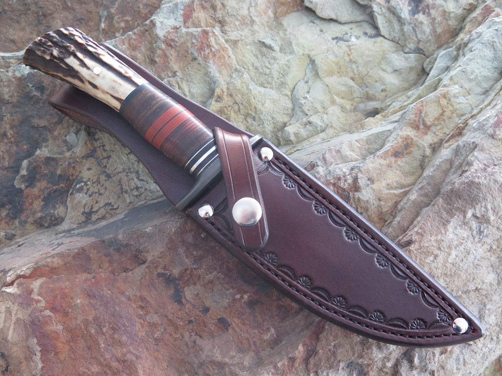 Sambar Stag and Horsehide Blued Fighter