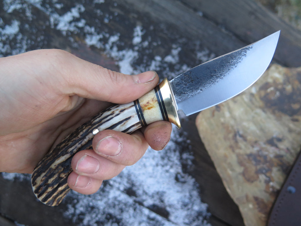 Premium Sambar Stag and Fossil Walrus Ivory Sharptail