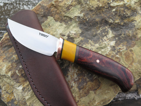 Cocobolo & Yellow Micarta Sharptail