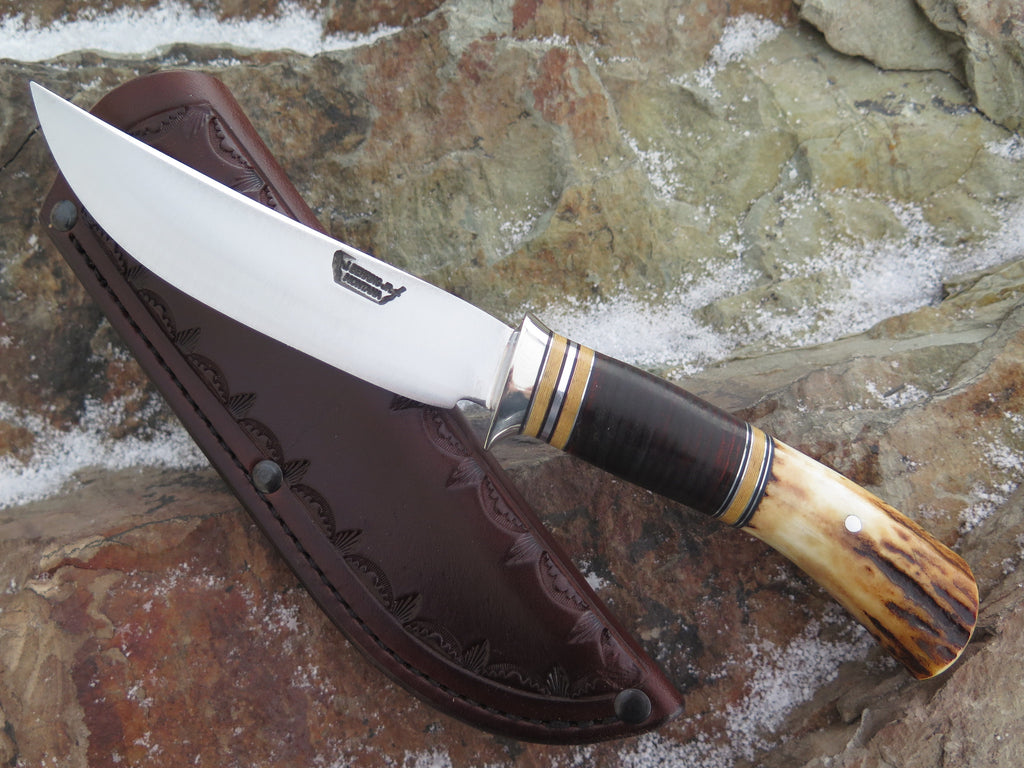 Classic Horsehide, Stag and Ivory Micarta Trout & Bird