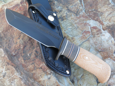Natural Canvas Micarta Custom Shop Valkyrie