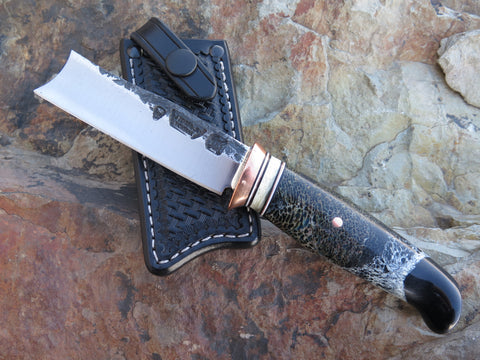Black Stabilized Giraffe Bone and Musk Ox Behring Straight