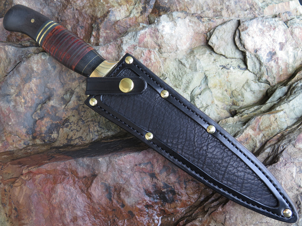 Black Ebony and Horshide Blued Dagger