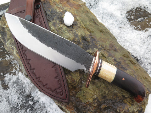Premium Desert Ironwood Burl and Fossil Walrus XL Alaskan