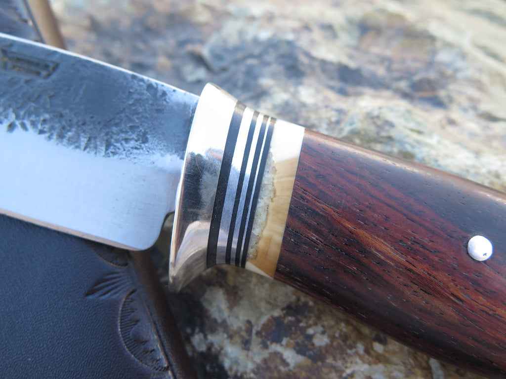 Cocobolo and Fossil Walrus Drop Point