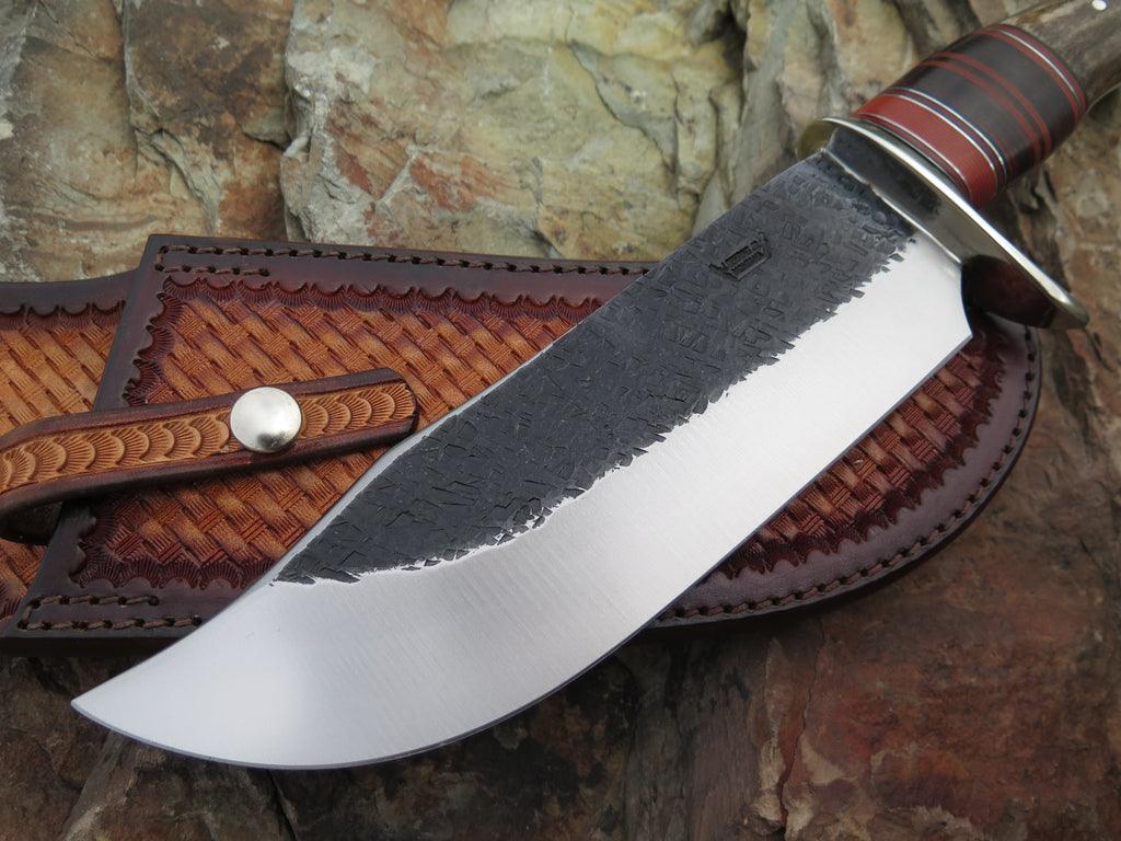 Shiras Moose Crown Stag & Horsehide SW Bowie