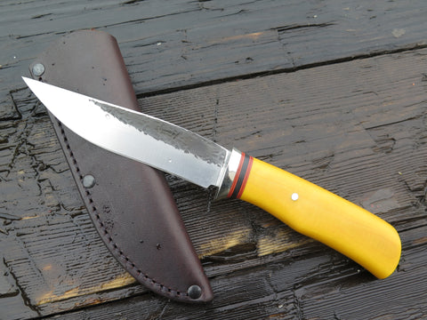 Yellow Micarta Stainless Trout & Bird