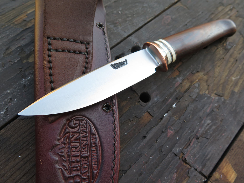 Cocobolo and Musk Ox Boss Stainless Drop Point