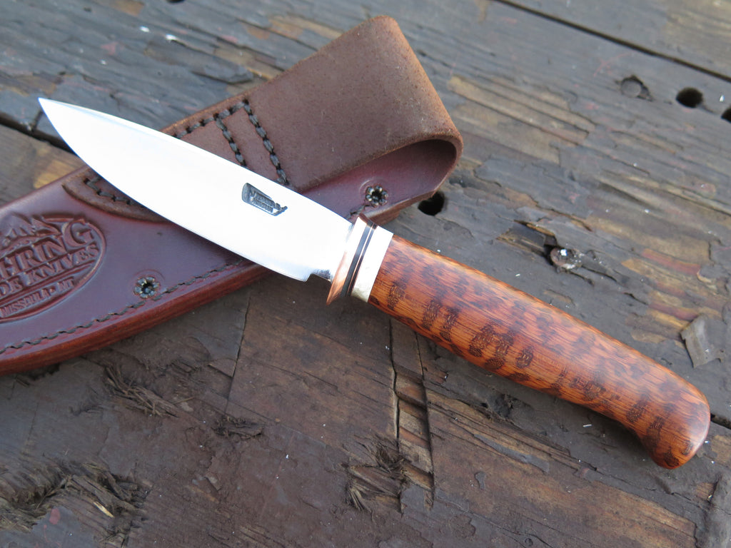 Snakewood & Ox Boss Stainless Drop Point