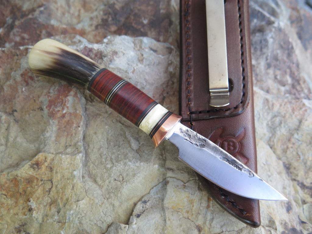Musk Ox and Horsehide Pocket Knife