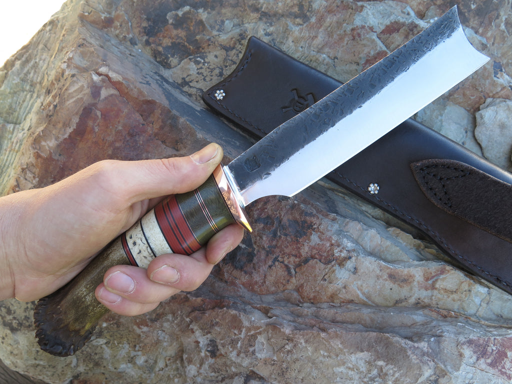 Crown Stag & Musk Ox Boss Backwoods Cleaver
