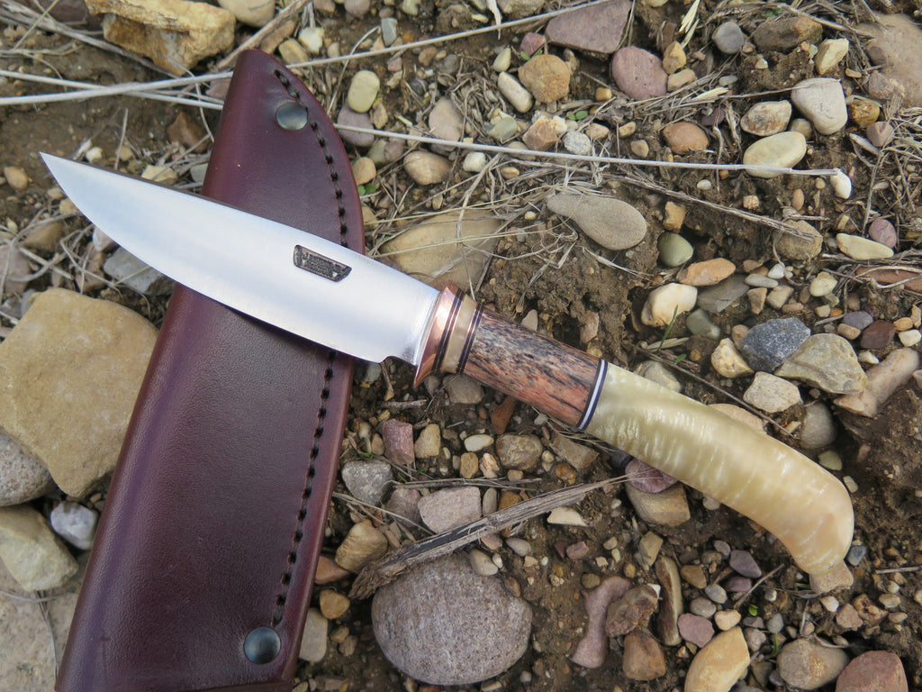 Musk Ox Boss & Giraffe Stainless Drop Point