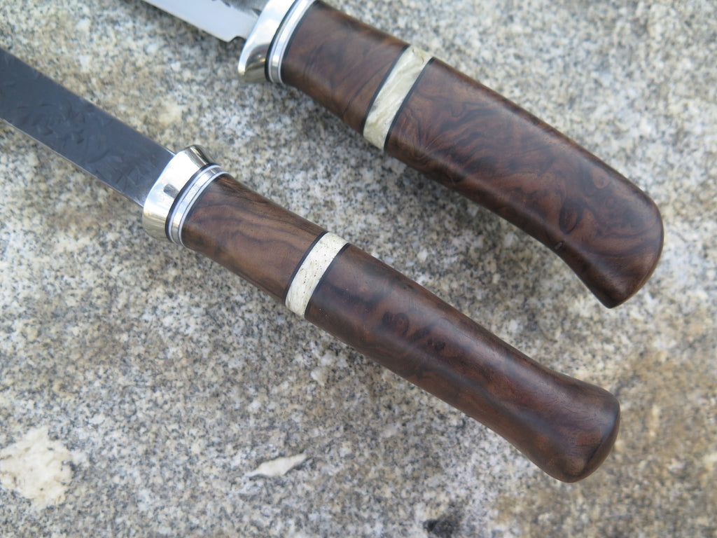 Turkish Walnut and Musk Ox Boss Carving Set