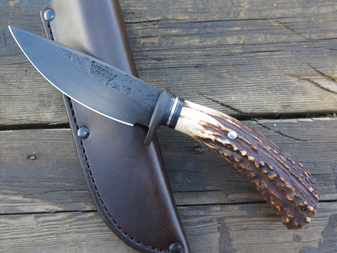 Premium Sambar Stag Blued Drop Point