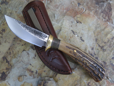 Premium Sambar Stag Pocket Knife