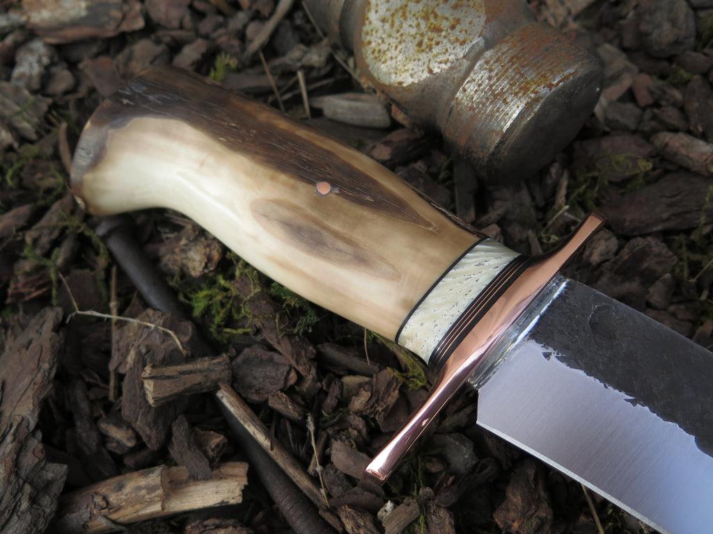 Fossil Walrus & Musk Ox Boss Recurve Camp Knife