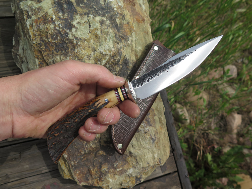 Pre B-logo Sambar Stag Woodcraft style Drop Point