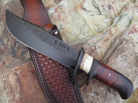 Premium Ironwood and Ox Blued Bowie
