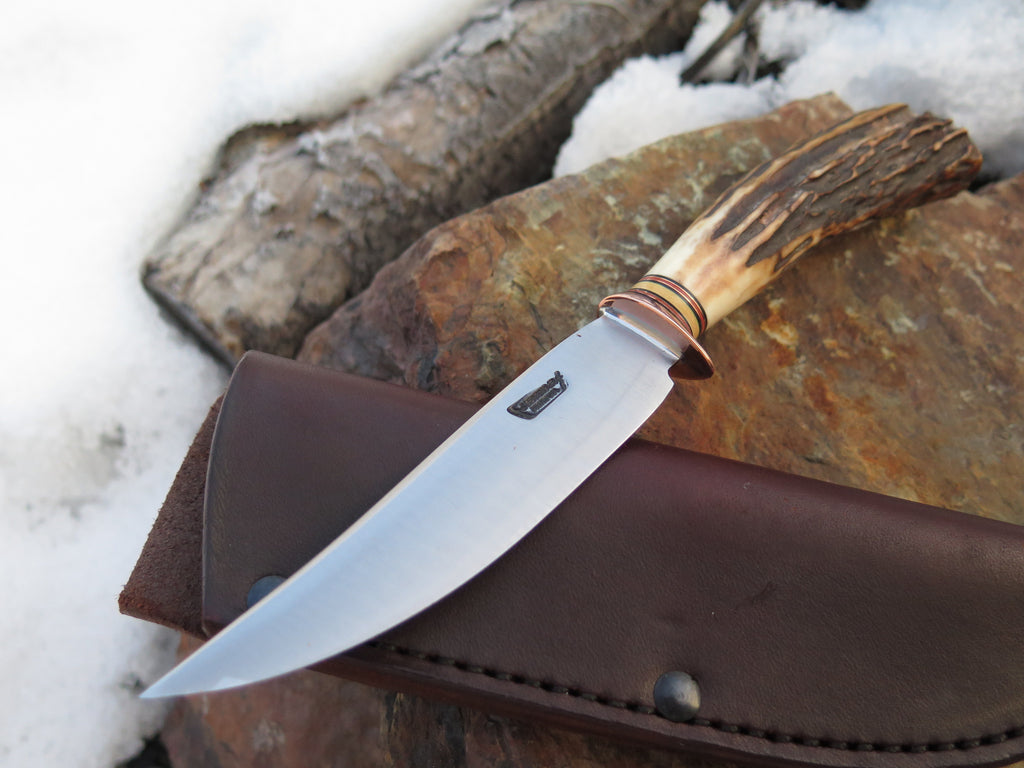 Stainless Steel and Sambar Stag Trout & Bird