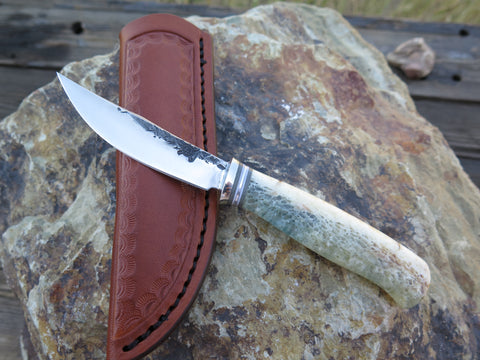 Stabilized Giraffe Bone Clip Point Pocket