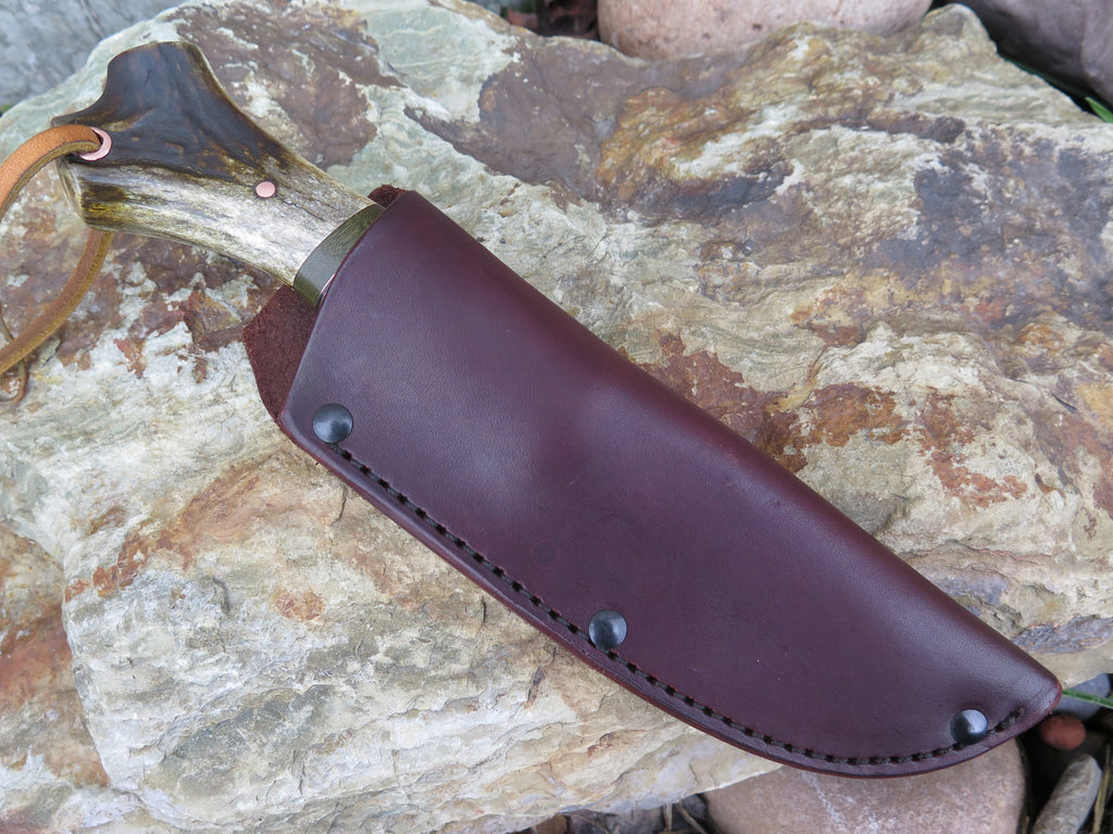 Crotch Stag, Musk Ox and Horsehide Woodcraft