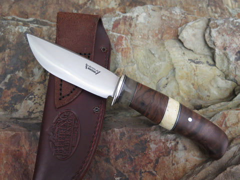Black Walnut and Ox Boss Drop Point