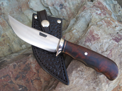 Ward Gay style Desert Ironwood Stainless Skinner