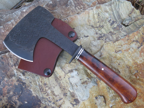 Premium Ironwood Burl Hatchet