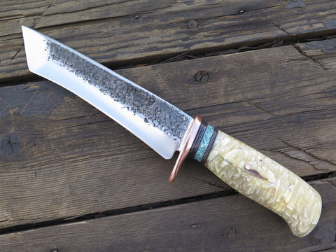 Musk Ox Boss and Giraffe Recurve Tanto
